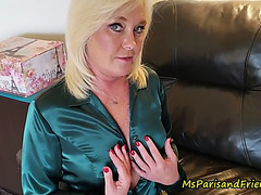 Hot satin experiences with ms paris rose