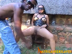 Real african legal age teenager fastened up and punished