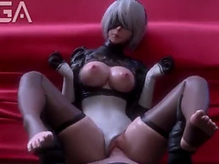2b receives her large butt drilled nier automata yorha 2b sfm porn compilation 2018 menacing(sound