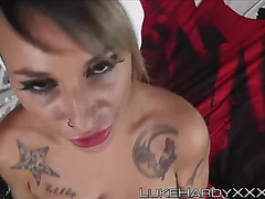 Santas little bitch gina hammered and creamed pov style