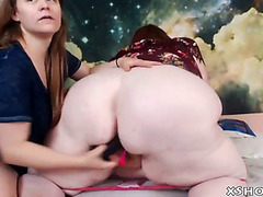 Sexually Excited large woman masturbation on live web camera