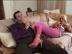 Jennifer have a fun anal with footjob