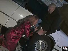 Antonella receives her petite wet crack team-fucked