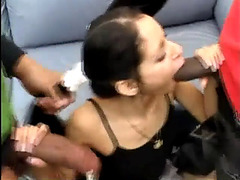 Boz and shane destroy diminutive slim whore