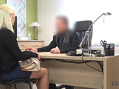 Loan4k.fearsome golden-haired gal pays with sex for the future of her business
