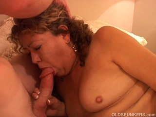 Porn Tube of Sexy Mature Amateur Sucks Cock