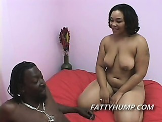 Porno Video of Fat Ebony Babe Sucking Cock So Big It Barely Fits In Her Mouth