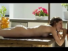 Blowjob and sex on the table