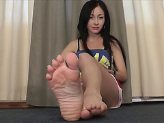Toespreading foot mistress soles pov