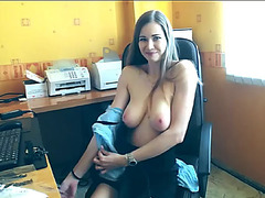 Hot large tit livecam chick teases