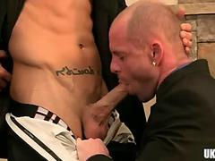 Sexy homo anal with spunk fountain