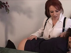 Lesbo office seductions