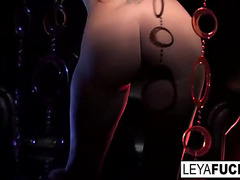 Disco floozy leya receives an anal pounding and creampie