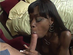 Dark cheerleader creampie