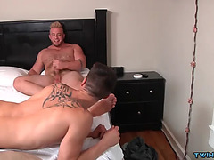 Large weenie son fellatio sex with
