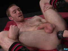 Hawt homosexual fetish with spunk fountain