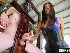 Hawt ;dominatrix domination and spunk fountain