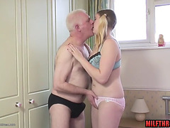 Bald love tunnel aged fellatio with ejaculation