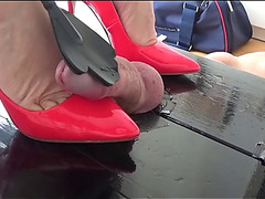 Shoejob on cockbox