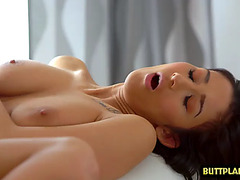 Large whoppers pornstar irrumation and spunk fountain