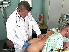 Doctor fingers patient