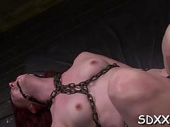 Ruogh sex session for slender hottie