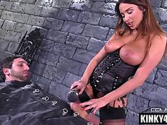 Dark Brown pornstar thraldom with ejaculation