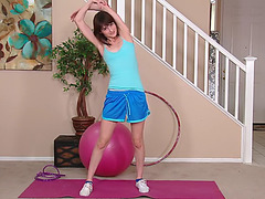 Teens chloe sky time to work out