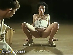 Coarse vintage hard anal fucking and pissing