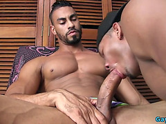 Latin homo anal sex with facial