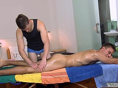 Muscle twink anal sex and facial