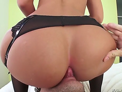 Jada stevens receives her large wazoo screwed and stuffed with banana