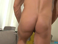 Muscle bear flip flop and anal spunk fountain