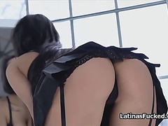 Tall large tit latin chick fucked in nylons