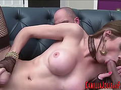 Sexy t-girl getting screwed