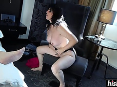 Raven acquires her curly muff plowed