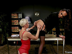 T-Girl lawyer bonks blond mother i'd like to fuck