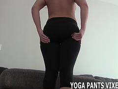 Wank your ramrod whilst i tease u in yoga panties joi