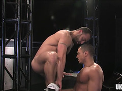 Muscle bear anal sex with spunk flow