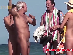 Jackass stripped beach voyeur large wazoo hawt wet crack undressed milfs spy