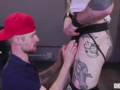 Tattoo homo anal fetish with spunk fountain