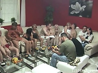 Porno Video of Biggest Mature Swingers Party