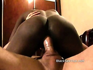 Porn Tube of Ebony Teen Rides A Big White Cock In His Hotel Room