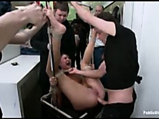 Sex Movie of Amateur Gangbang Fucked In Laundromat