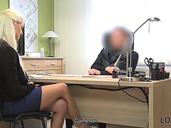 Loan4k.fearsome golden-haired domina suggests her juicy pussies for necessary credit