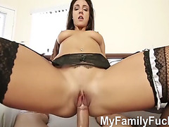 Sneaky daughter teases her stepdaddy myfamilyfuck.com