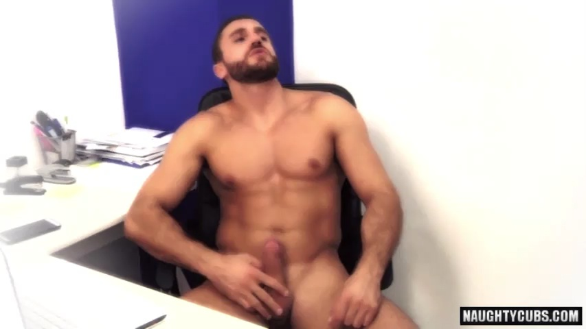 Muscle homo anal with ejaculation