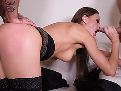 Super sexy poker pro tina kay swallows &amp rides two large hard dic