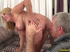 Aged blond crystal taylor acquires plowed
