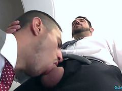 Muscle homosexual anal sex with spunk fountain